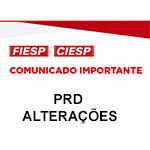 Comunicado Importante - PRD - Alterações