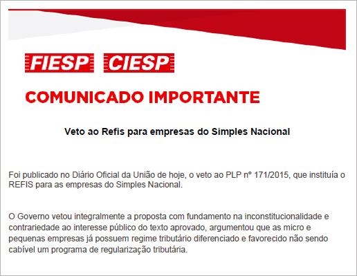 CI-VetoAoRefisParaEmpresasDoSimplesNacional