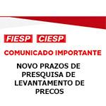 Comunicado Importante - Novo Prazos de Pesquisa de levantamento de preços