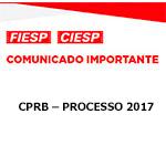 Comunicado Importante - CPRB - PROCESSO 2017